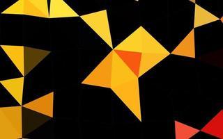 textura de mosaico de triângulo de vetor amarelo e laranja claro.