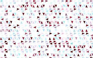 layout de vetor azul e vermelho claro com linhas, triângulos.