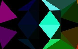 multicolor escuro, vetor de arco-íris brilhante padrão hexagonal.