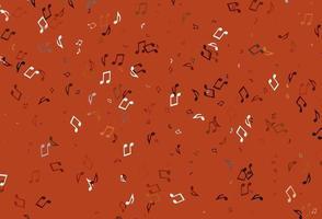 fundo colorido claro do vetor com símbolos musicais.