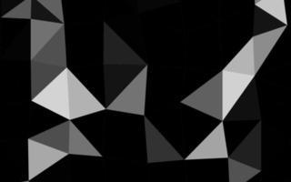 luz prata, cinza fundo abstrato do polígono do vetor. vetor