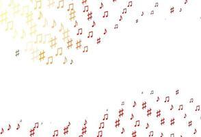 modelo de vetor vermelho claro com símbolos musicais.