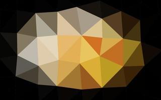 fundo poligonal do vetor amarelo e laranja claro.