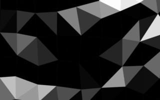 textura de triângulo embaçado vetor cinza claro prata.