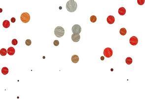 modelo de vetor vermelho e amarelo claro com círculos.
