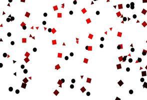 pano de fundo vector vermelho claro com linhas, círculos, losango.