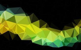 pano de fundo de mosaico abstrato de vetor azul e amarelo claro.