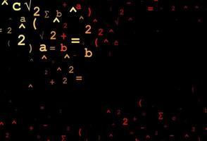 fundo vector vermelho escuro com símbolos de dígitos.