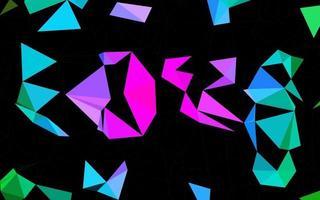 multicolor escuro, padrão de triângulo embaçado de vetor de arco-íris.