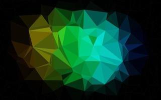 multicolor escuro, vetor de arco-íris brilhante padrão triangular.
