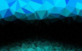 pano de fundo de mosaico abstrato de vetor azul, verde claro.
