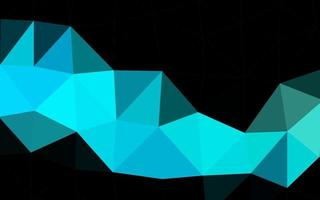 modelo de mosaico de triângulo de vetor de azul claro e verde.