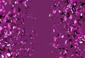 padrão de vetor rosa claro com formas caóticas.