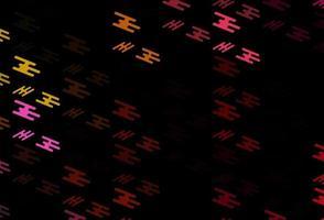 pano de fundo vector rosa e amarelo escuro com linhas longas.