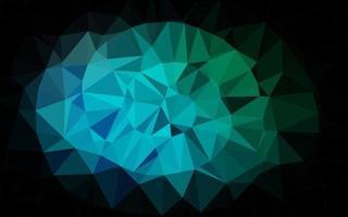 azul claro, verde vetor padrão de triângulo embaçado.