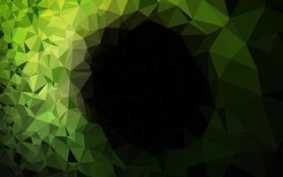 vetor verde escuro brilhando modelo triangular.