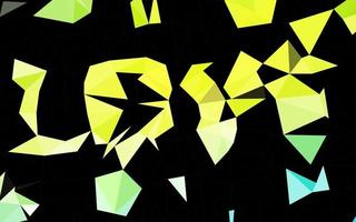 modelo poligonal de vetor azul claro e amarelo.