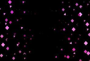 textura vector rosa escuro em estilo poli com círculos, cubos.