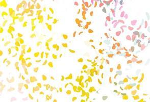 textura de vetor rosa claro, amarelo com formas aleatórias.