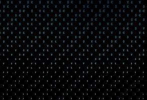 layout de vetor de azul escuro com símbolos bancários.