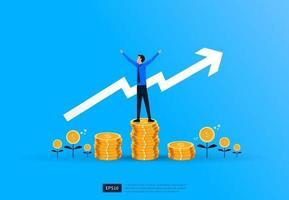 conceito de investimento financeiro de sucesso empresarial vetor