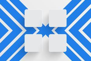 Modelo limpo para publicidade com setas azuis, ilustração vetorial