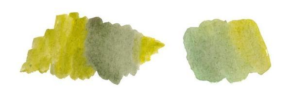 pincelada abstrata aquarela verde com papel áspero texturizado vetor