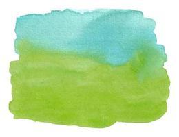 pincelada abstrata aquarela azul e verde com textura áspera vetor