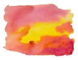 pincelada abstrata aquarela vermelha e amarela vetor