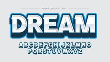 blue modern gaming perspectiva 3d esportes tipografia vetor