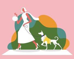 conceito de vetor de ilustração de moda feminina de luxo