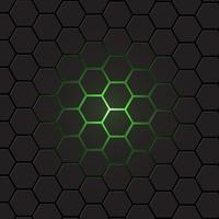 Fundo de hexágono cinza escuro, vetor