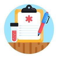 prescrição e registro vetor