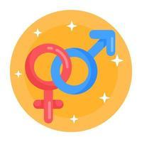 sexo e gênero vetor