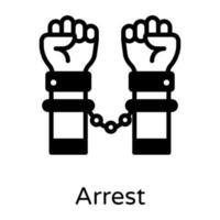prisão e algemas vetor