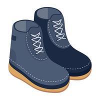 botas e calçados de caminhada vetor