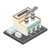 moinho e planta de manufatura vetor