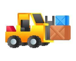 caminhão logístico bendi vetor