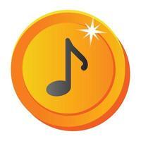 nota musical e melodia vetor