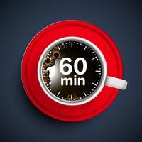 Ilustração realista de tempo de café, vector