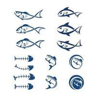 modelo de logotipo de peixe vetor