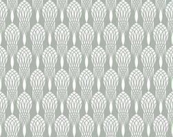 padrão sem emenda art déco linha floral abstrata ornamento estilizado vetor
