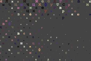 padrão de vetor rosa claro com símbolos abc.