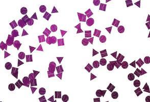 fundo vector rosa claro com triângulos, círculos, cubos.
