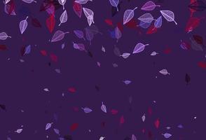 layout de doodle de vetor rosa e azul claro.