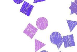 pano de fundo rosa claro, azul vector com linhas, círculos, losango.