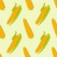 padrão sem emenda com espigas de milho. impressão de colheita de vegetais de outono vetor