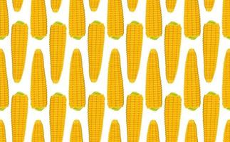 padrão sem emenda com espigas de milho vetor