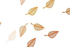 layout de doodle de vetor laranja claro.