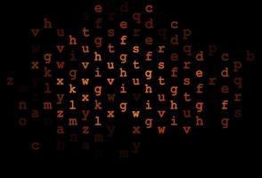 modelo de vetor laranja escuro com letras isoladas.